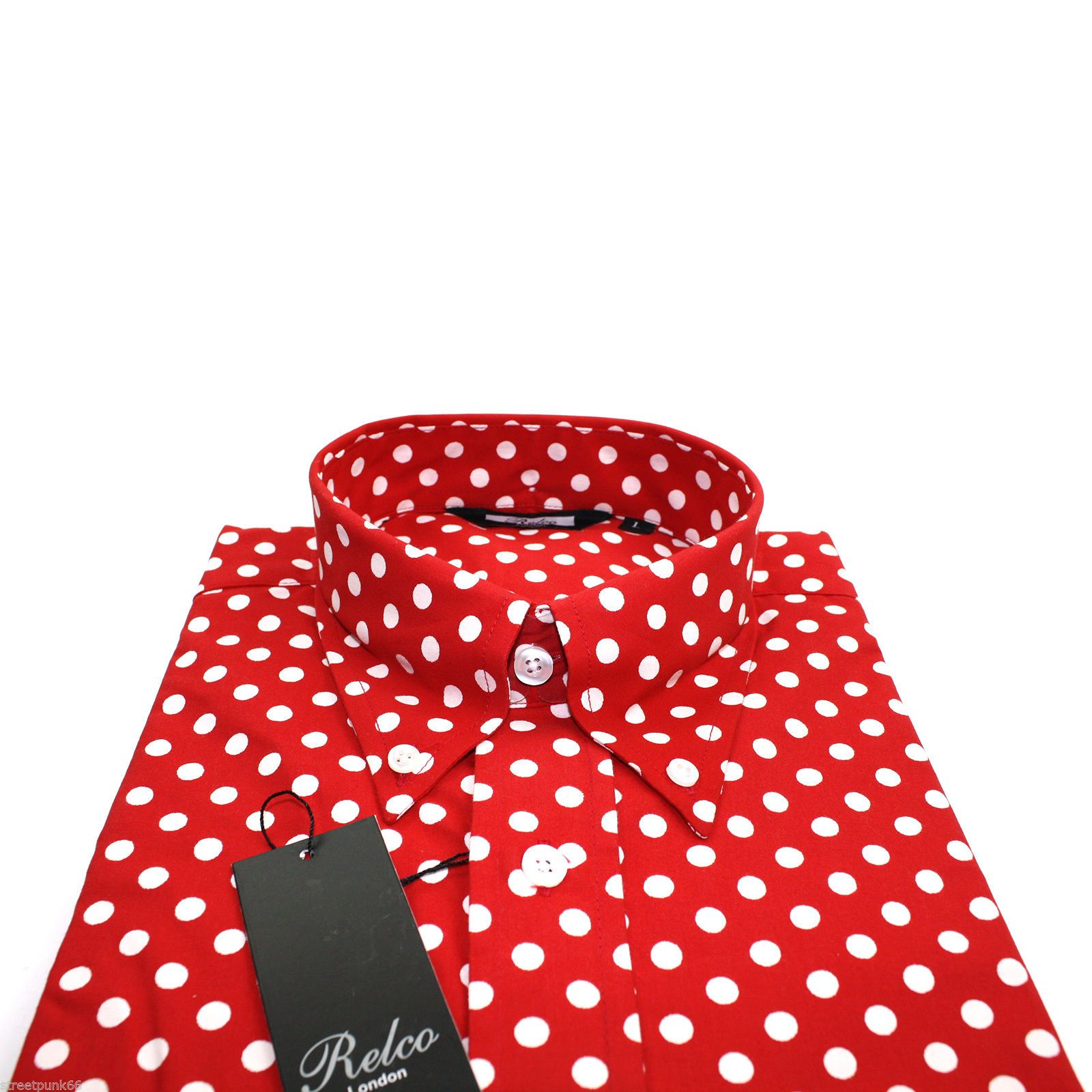 Free shipping available. The Tie Bar offers premium quality men's red polka dot ties at a great value.